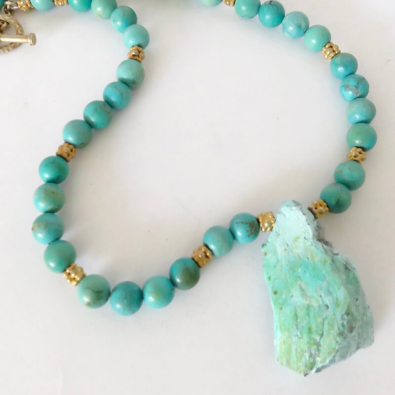 Turquoise Nugget Bead Necklace - Michael Sherman Jewelry Designs ...